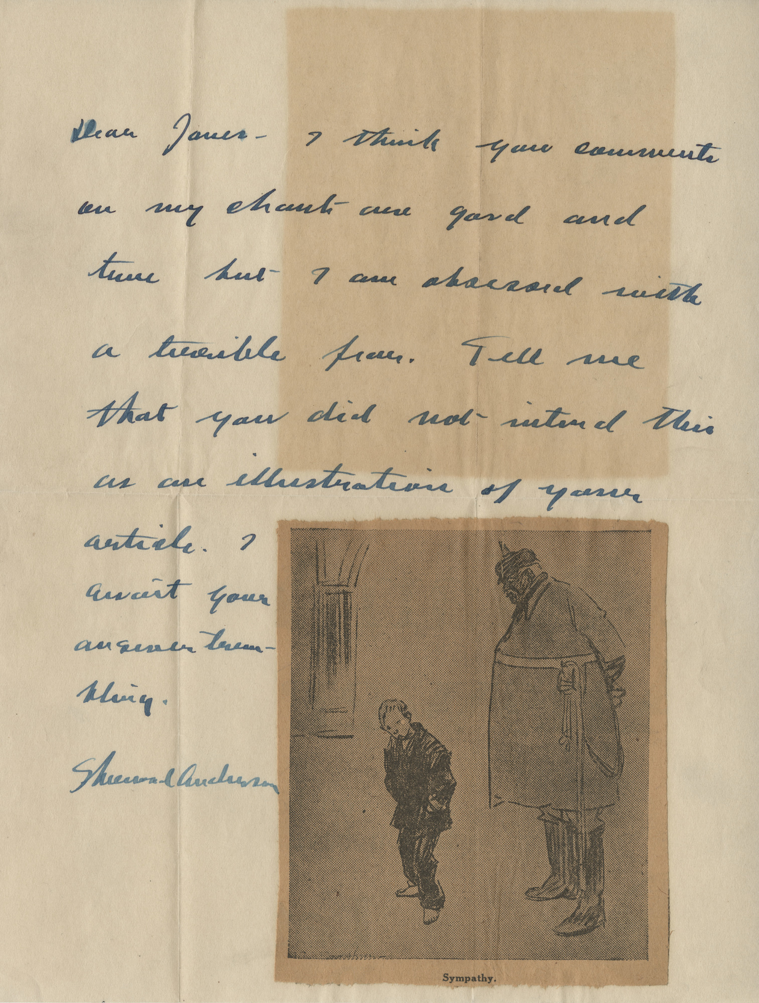 Sherwood Anderson Correspondence with Llewellyn Jones, 1916-1924, n.d. (Ms2015-044)